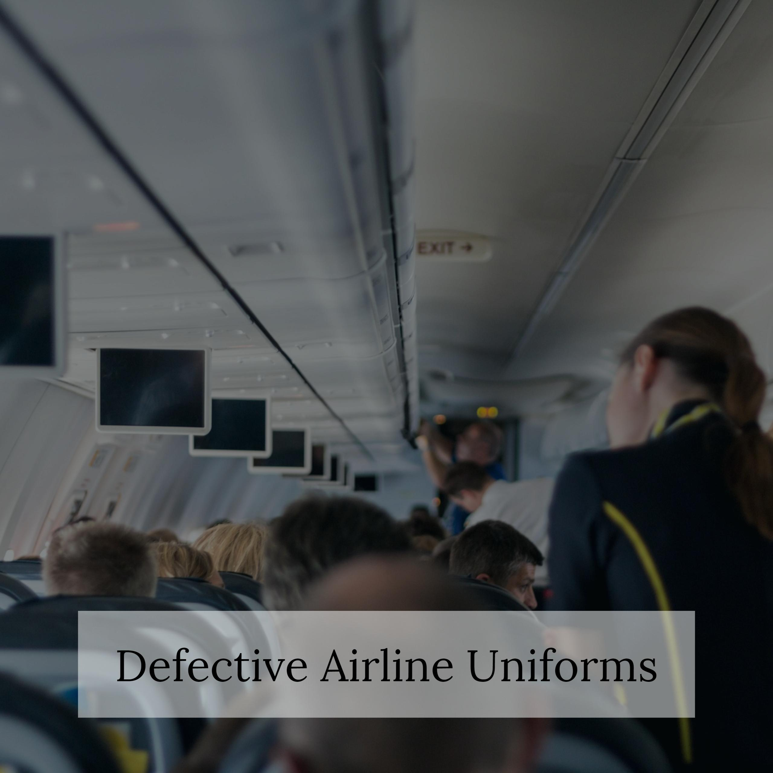 Aviation Defective Products Lawyer Jonathan C. Reiter Discusses Airline's Uniforms Causing Sickness