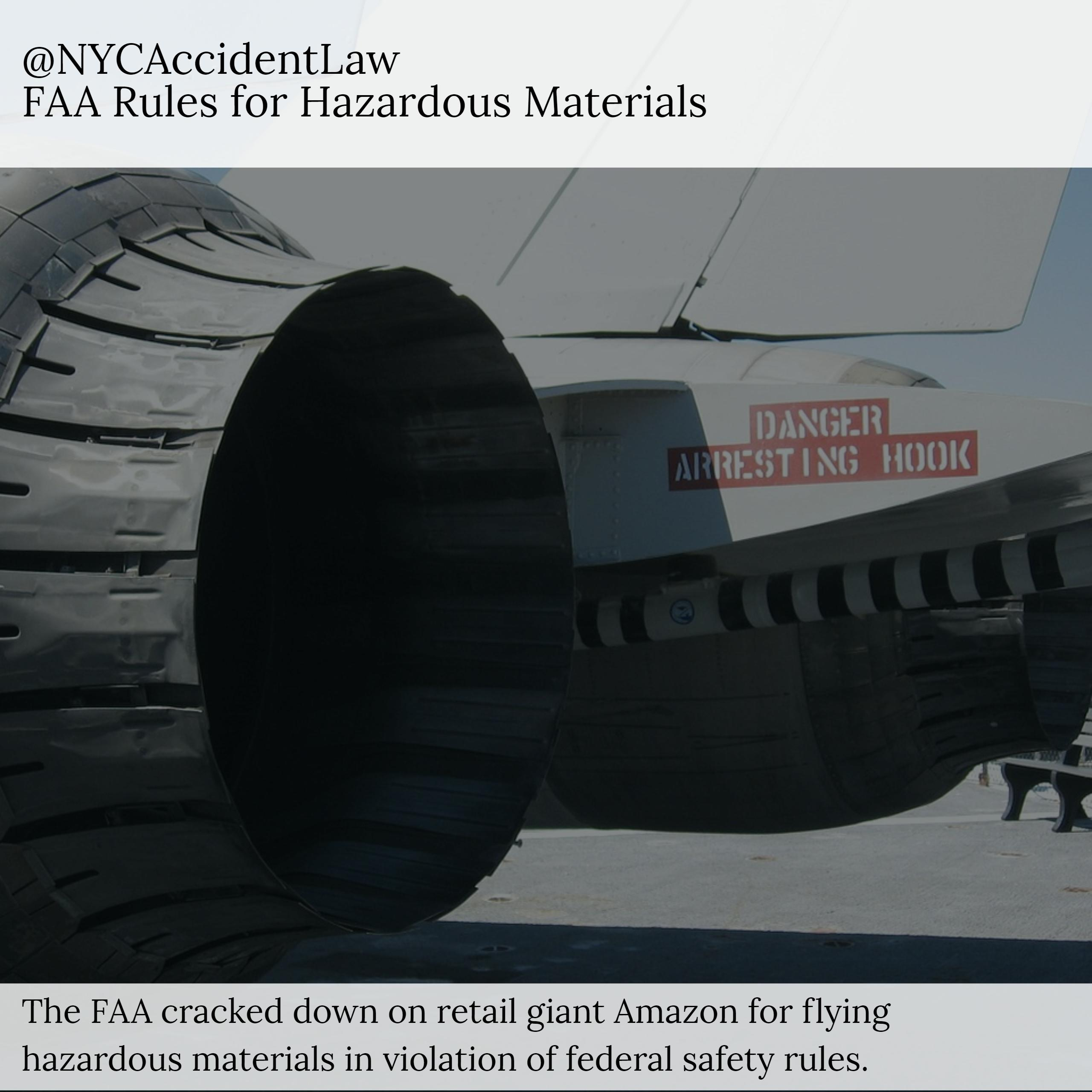 Aviation Lawyer Says - FAA Fines Amazon for Shipping Hazardous Materials by Air