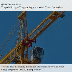New York City Construction Accident Lawyer Discusses Tougher Crane Regulations Following Tragic Death