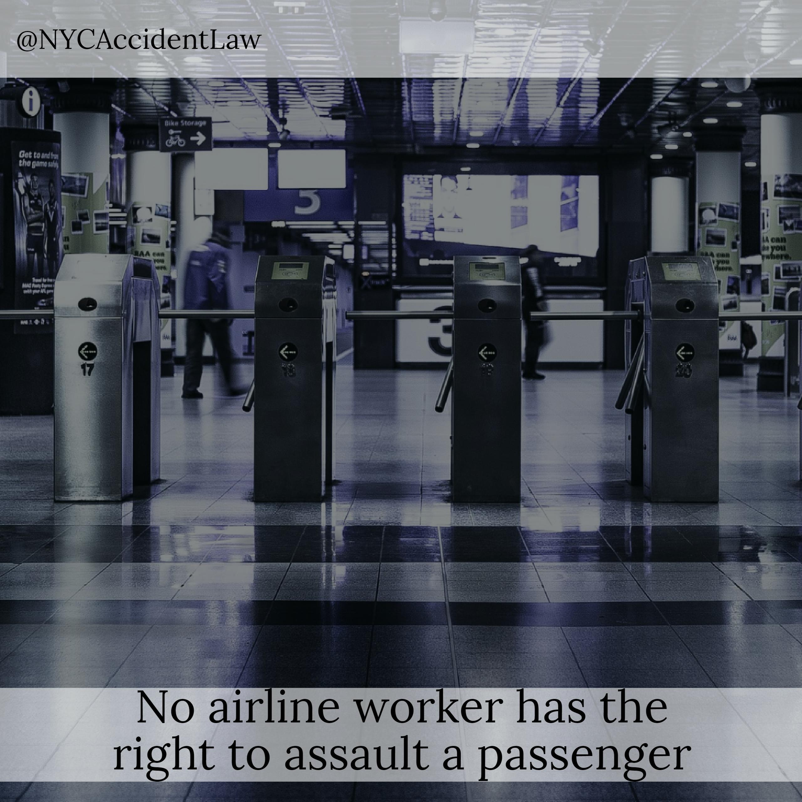 Assaulted by an Airport Worker Aviation Accident Lawyer